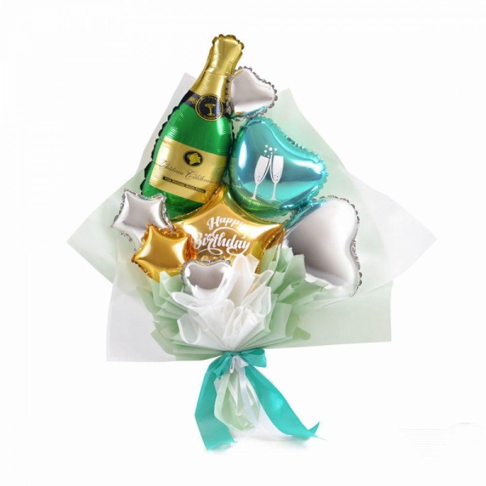 Воздушный мини букет Шампанское