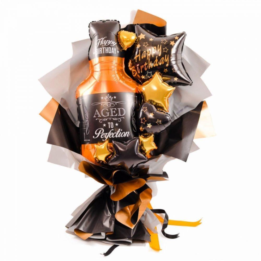 Воздушный букет для мужчины Бутылка виски