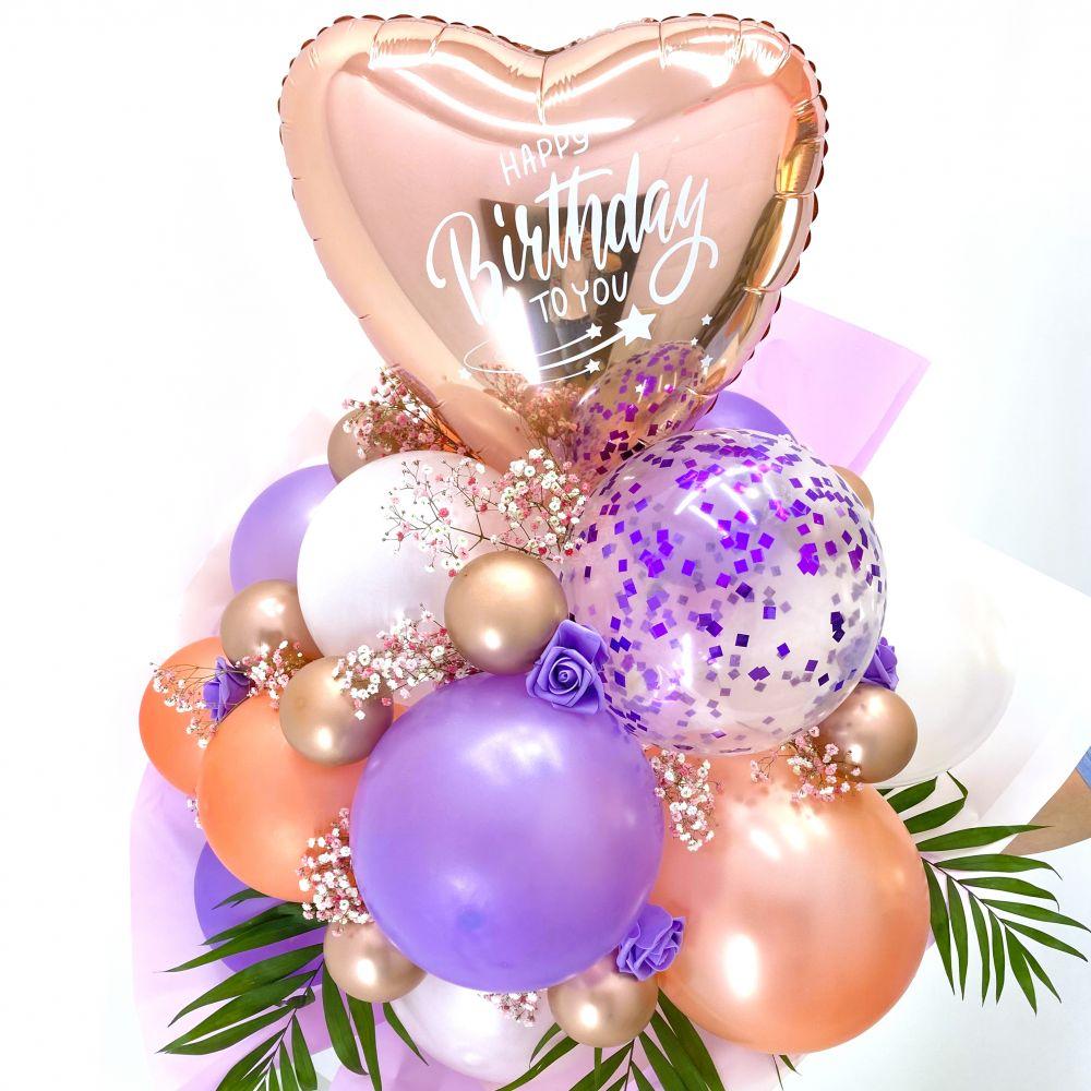 Букет из воздушных шариков Happy Bithday to you