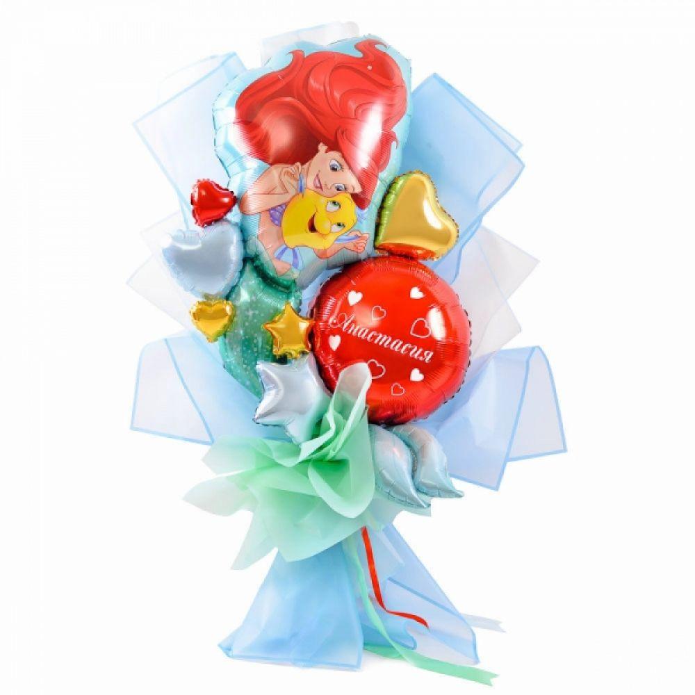 Букет из воздушных шариков Русалочка