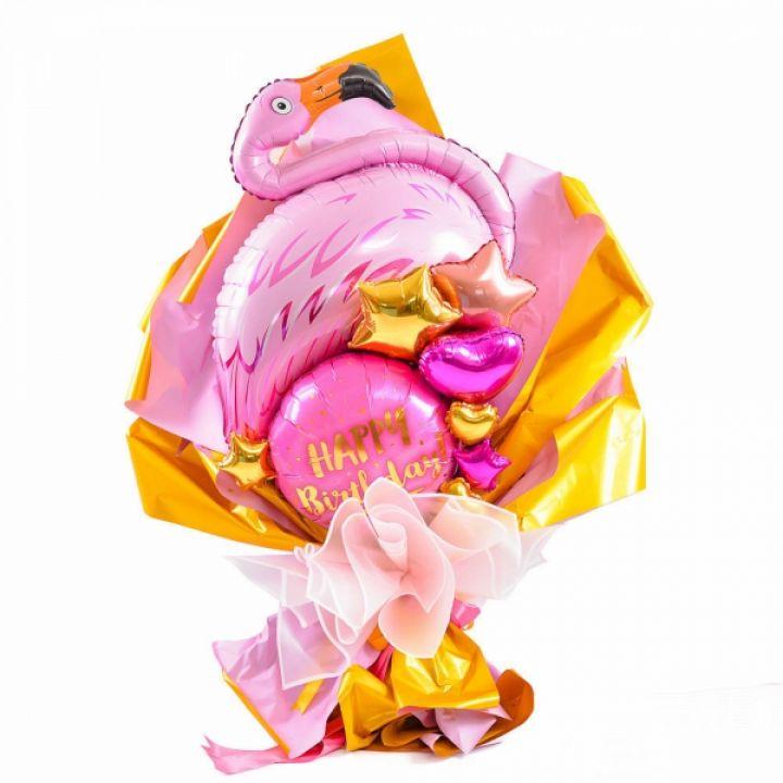 """Воздушный букет """"Фламинго"""""""