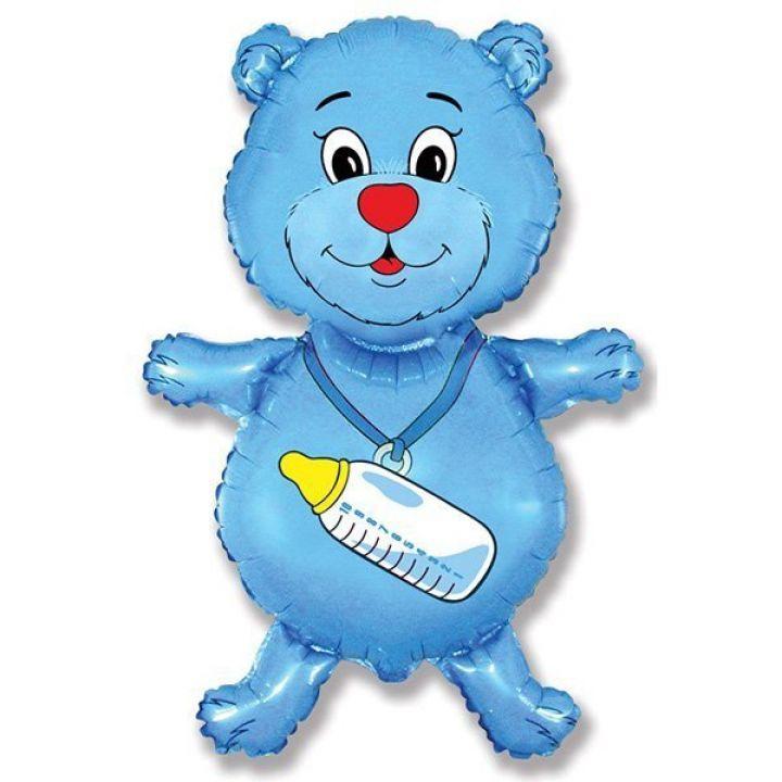 Медвежонок синий