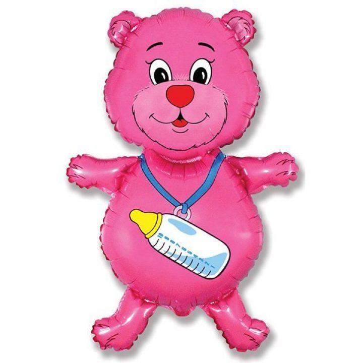 Медвежонок розовый