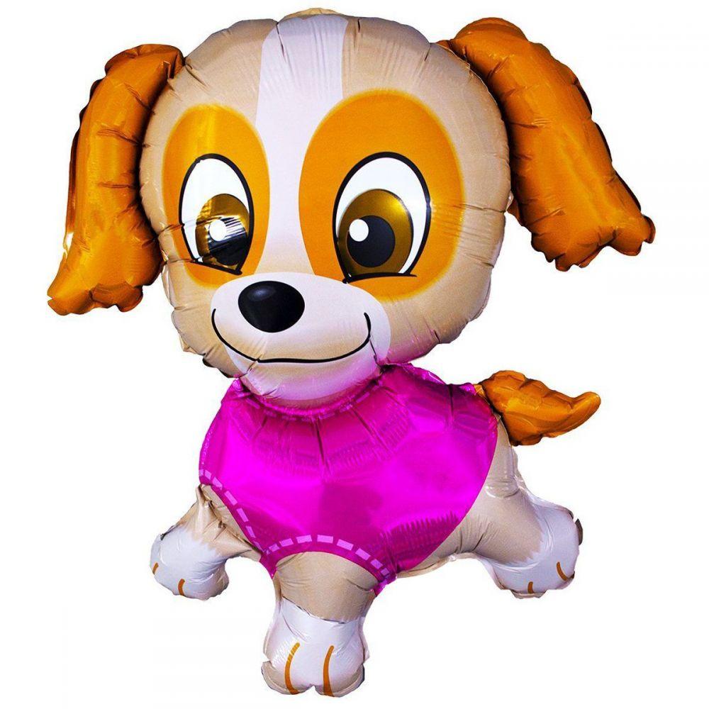 Фольгированный шар фигура Щенячий патруль, щенок в розовом