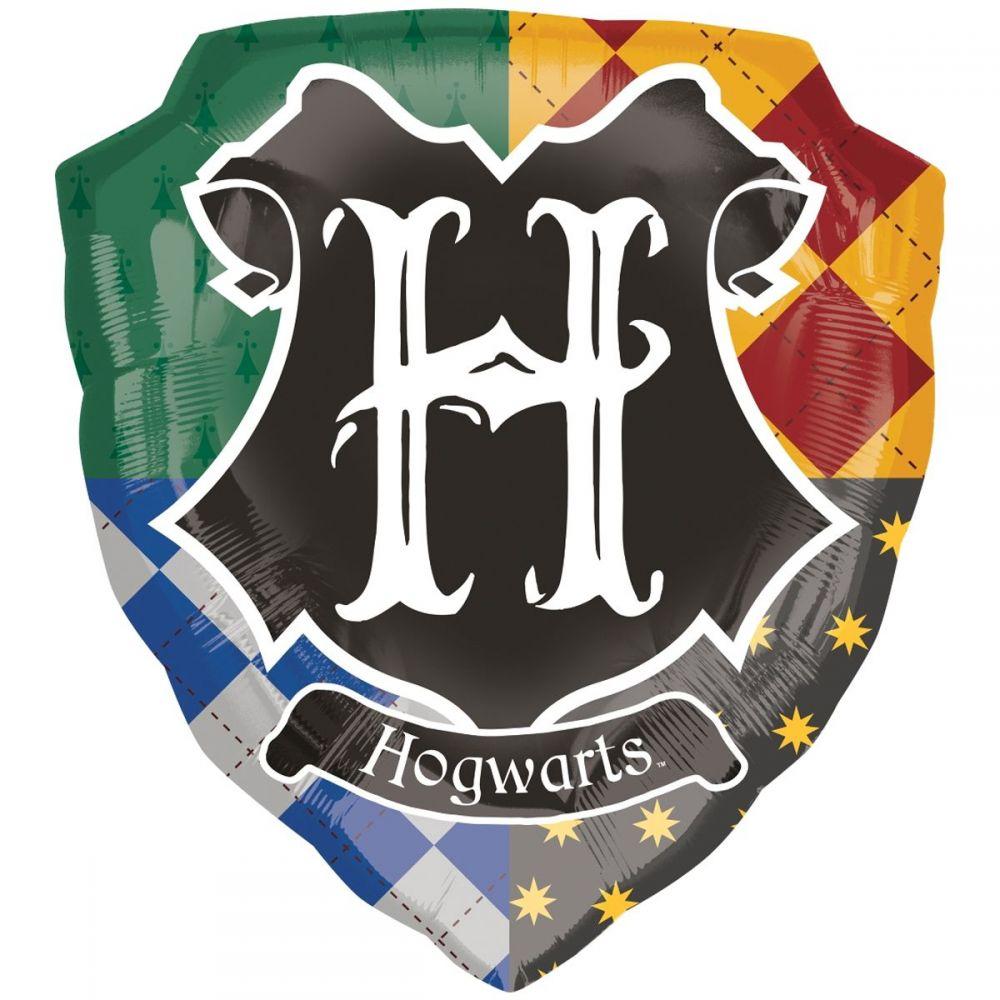 Фольгированный шар фигура Гарри Поттер герб Хогвартса