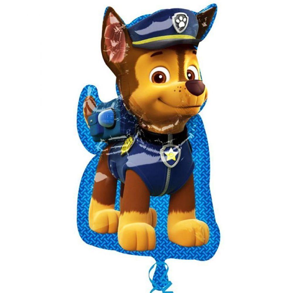 Фольгированный шар фигура Щенячий патруль, Чейз