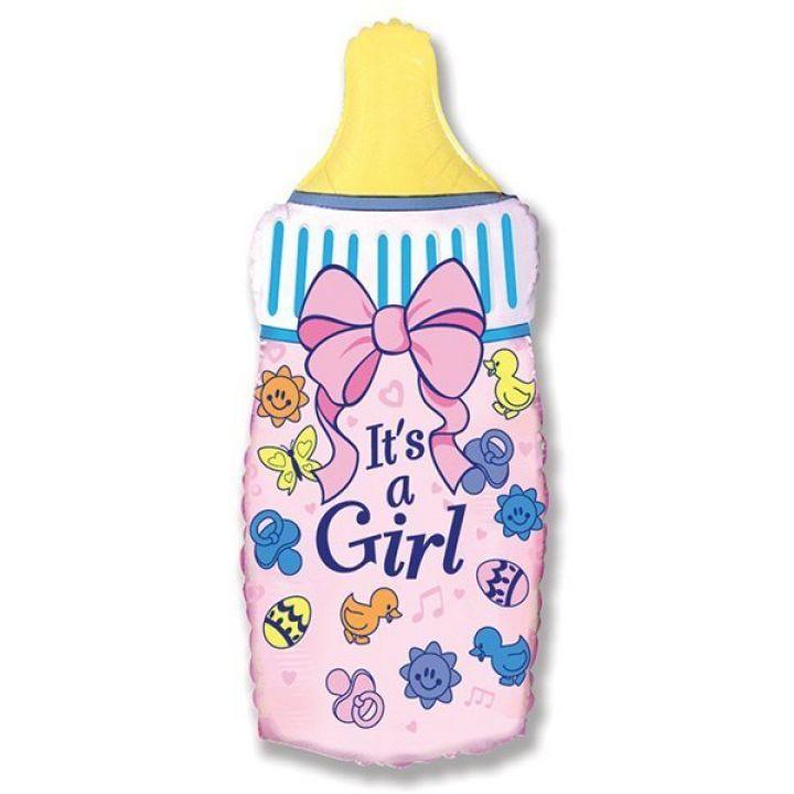 Бутылка розовая