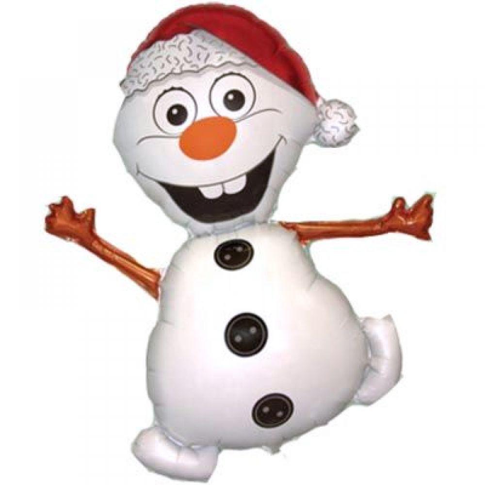 Фольгированный шар фигура Снеговик Олаф