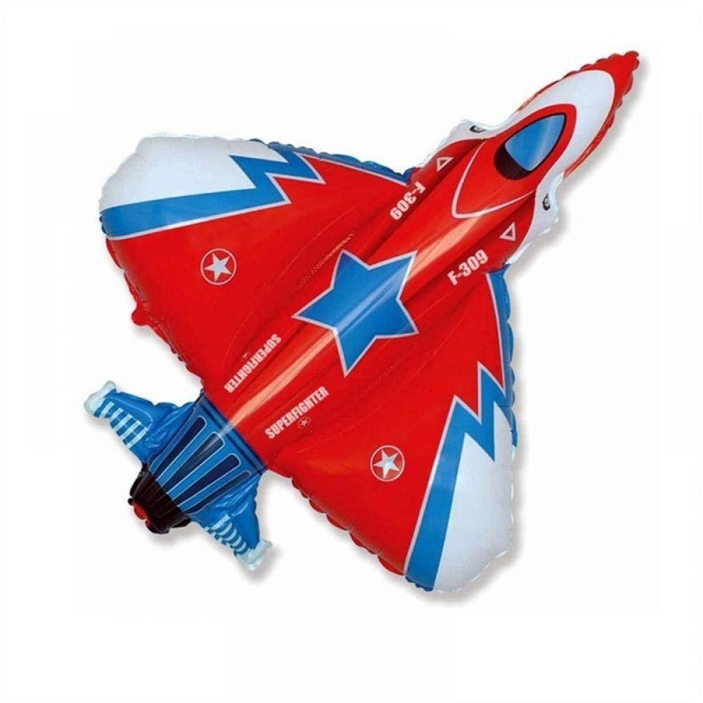 Фольгированный шар фигура Истребитель (самолёт)