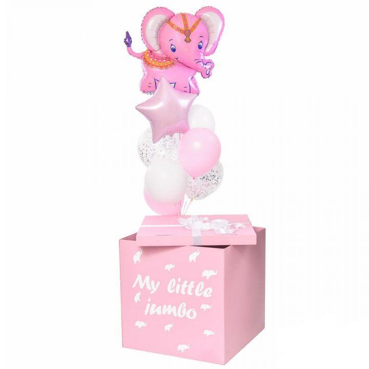 """Коробка сюрприз """"Розовый слоник"""""""