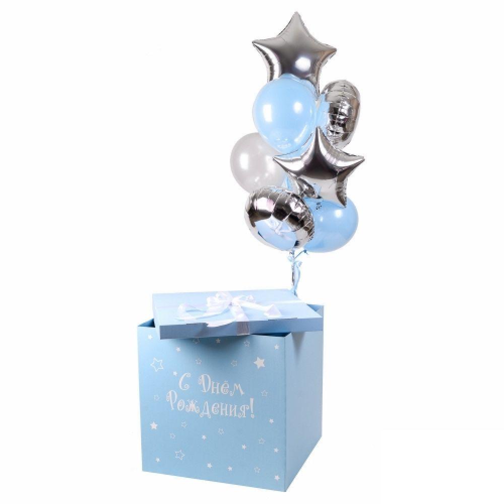 """Коробка с шарами """"С Днём Рождения"""""""