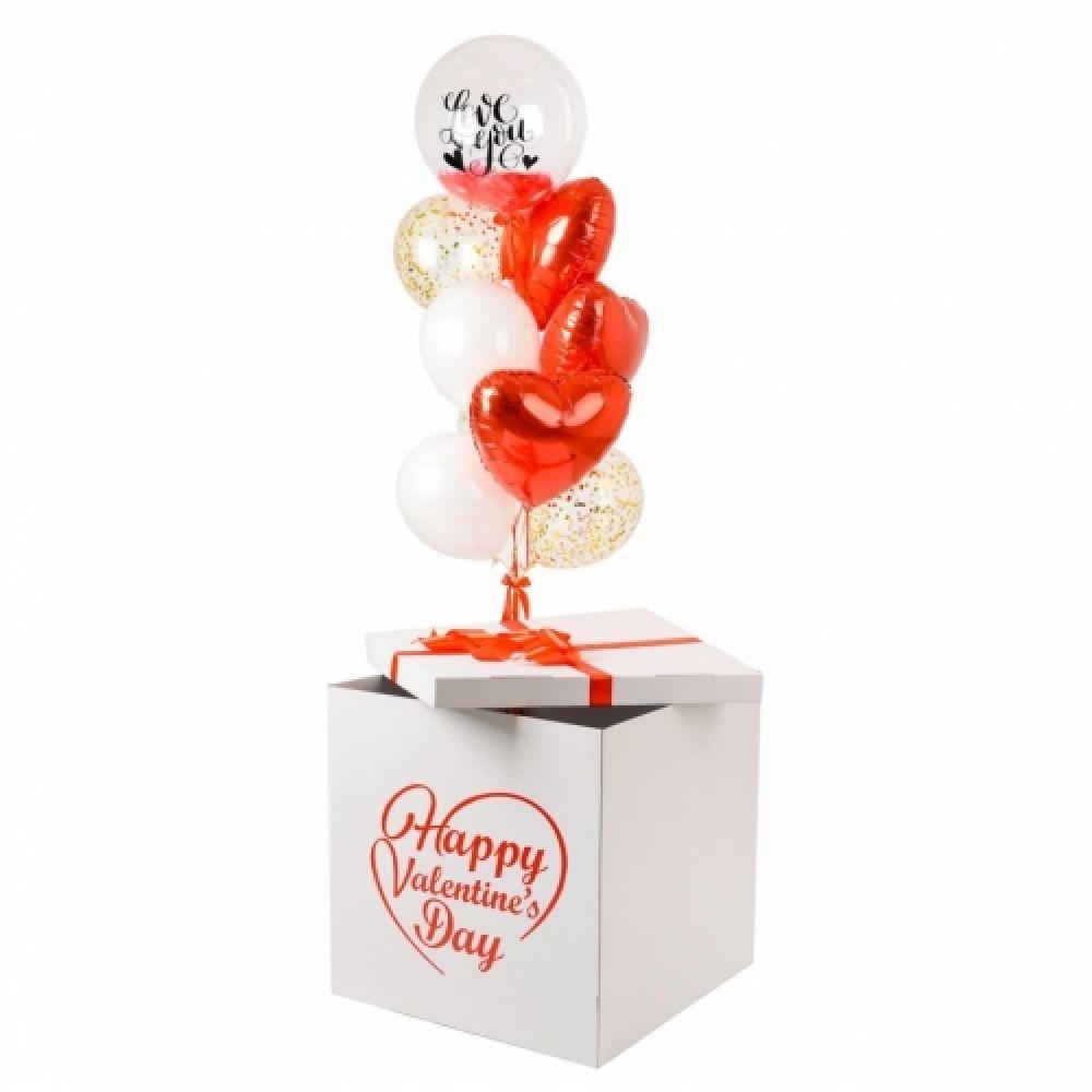 """Коробка с шариками """"В день Святого Валентина"""""""