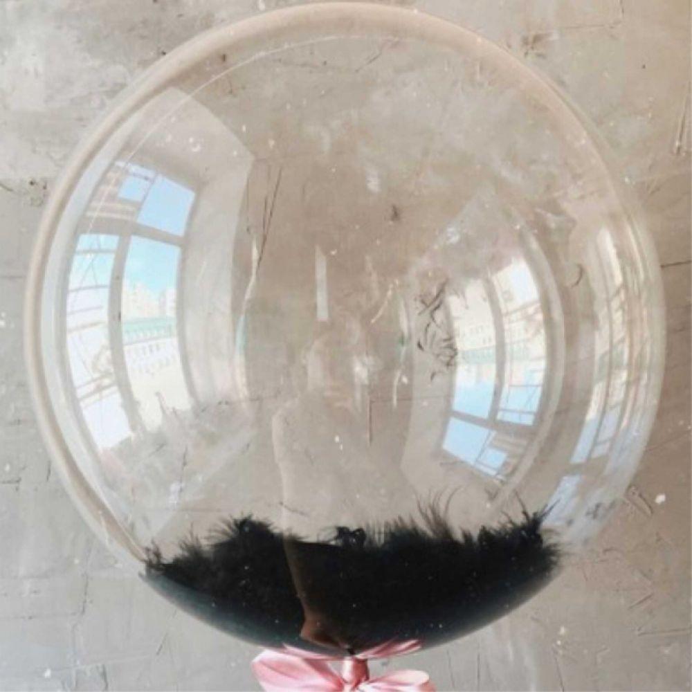 Bubble с черными перьями