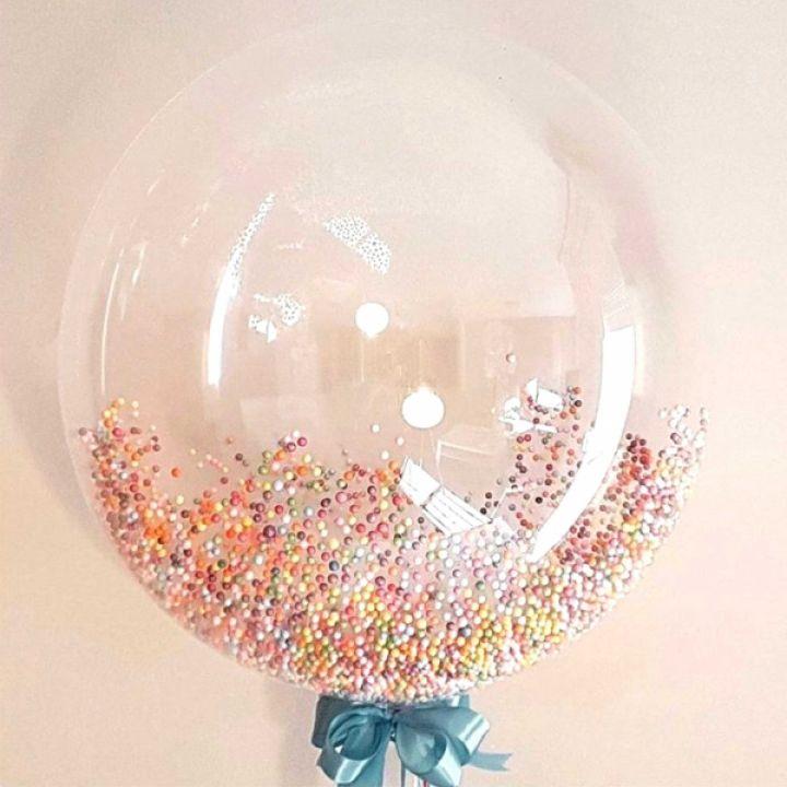 Bubble с разноцветным конфетти