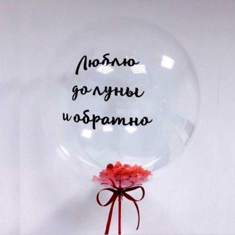 """Прозрачная сфера """"Люблю до луны и обратно"""""""