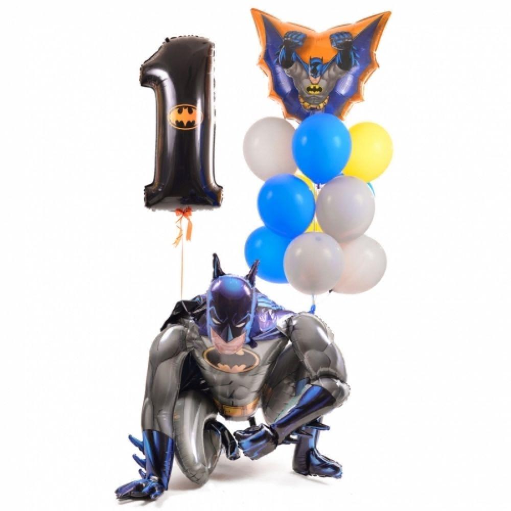 """Комплект шариков на день рождение в стиле """"Бэтмен"""""""