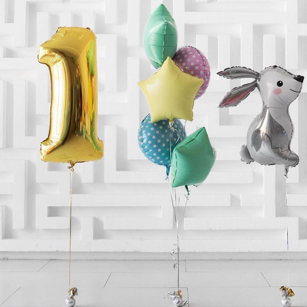 Комплект шариков с фигуркой кролика