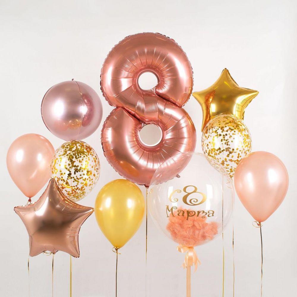 Комплект шаров 8 марта