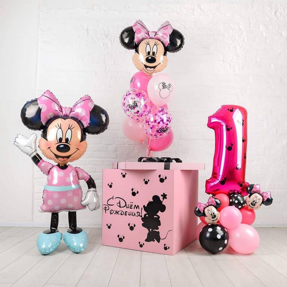 Комплект на день рождение девочки в стиле Минни Маус