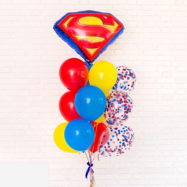 """Связка из 13 шаров """"Супермен"""""""