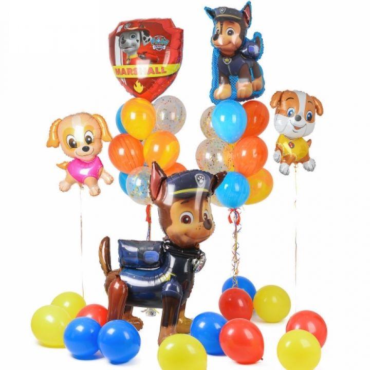 """Комплект воздушных шаров """"Щенячий Патруль"""""""