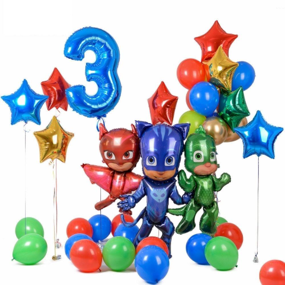 """Комплект воздушных шаров на детский праздник """"Герои в масках"""""""