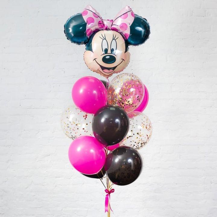"""Связка из 14 воздушных шариков """"Минни Маус"""""""