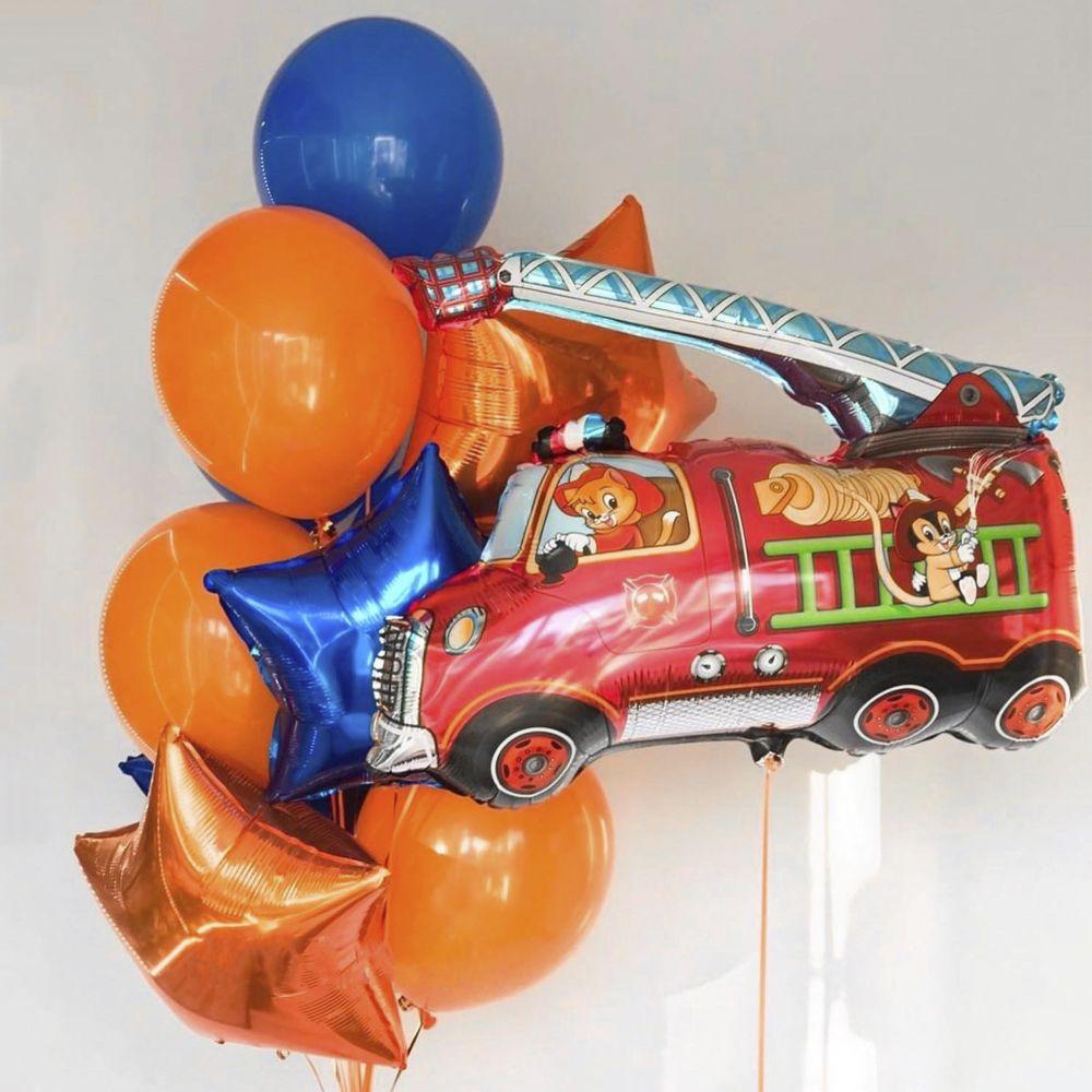 """Комплект воздушных шаров """"Пожарная машина"""""""