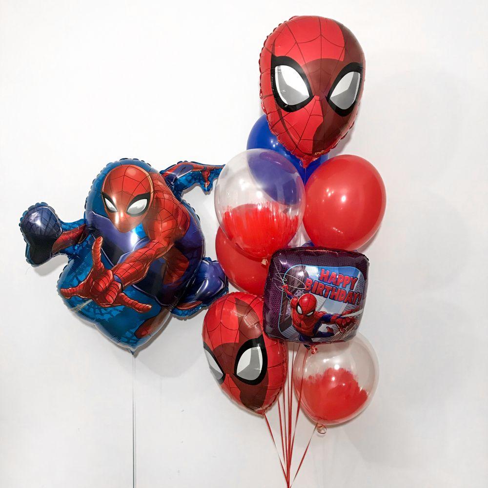 """Комплект шаров для мальчика """"Человек паук"""""""