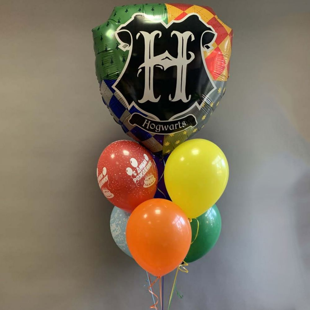 Связка из 7 шаров Гарри Поттер - Герб Хогвартса