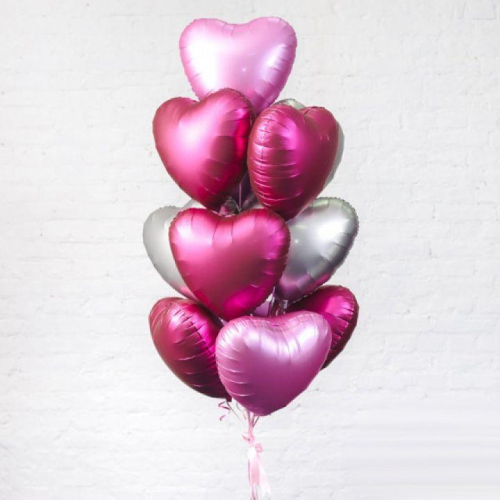"""Связка из 13 шаров """"Ты мое сердце"""""""