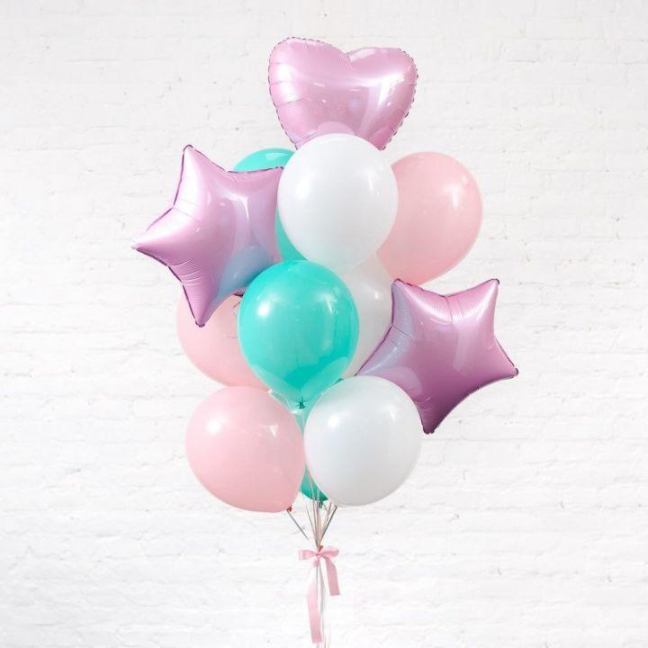 """Связка из 12 шаров """"Розовая нежность"""""""