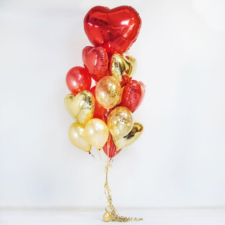 """Связка из 20 шаров """"Большой любви - большое сердце"""""""