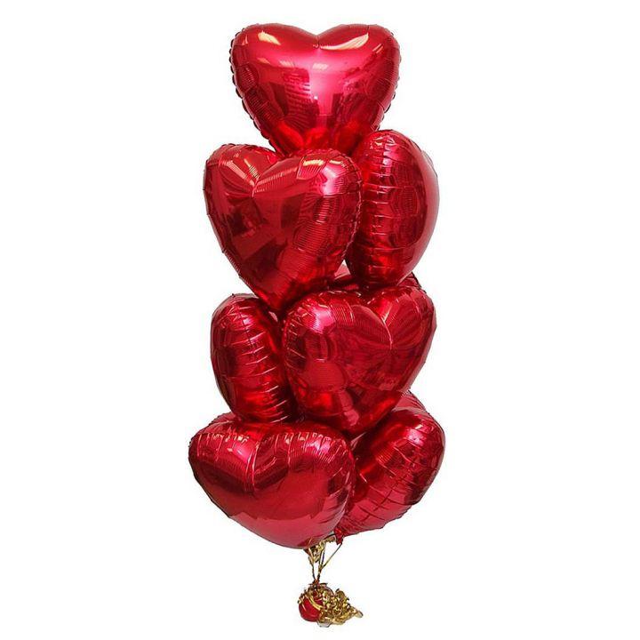 """Связка из 10 шаров """"Для любимой"""""""