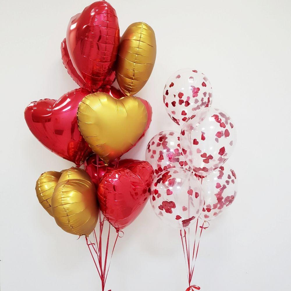 Комплект шаров ко Дню Влюбленных