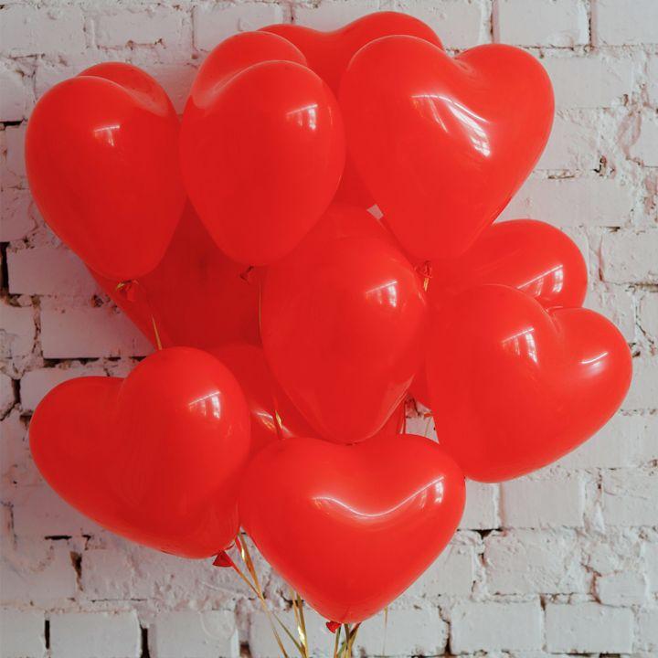 """Связка из 11 шаров """"Воздушные сердца"""""""
