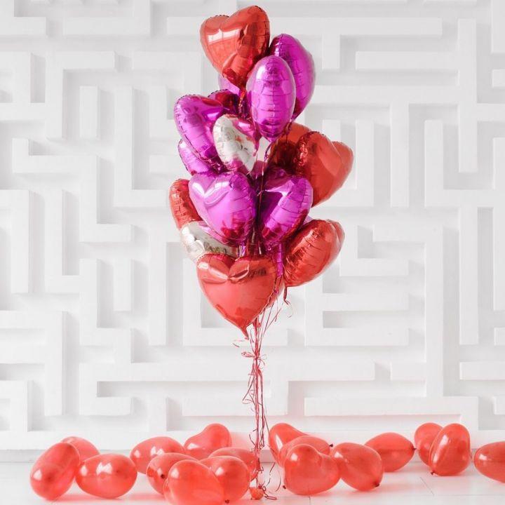 """Связка из 17 шаров """"Для тебя любимая"""""""