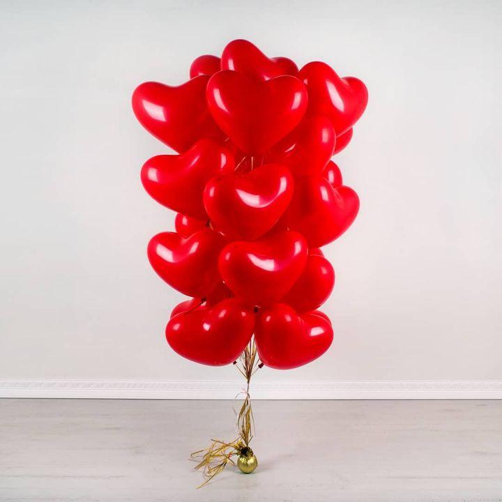 """Связка из 18 шаров """"Воздушное сердце"""""""
