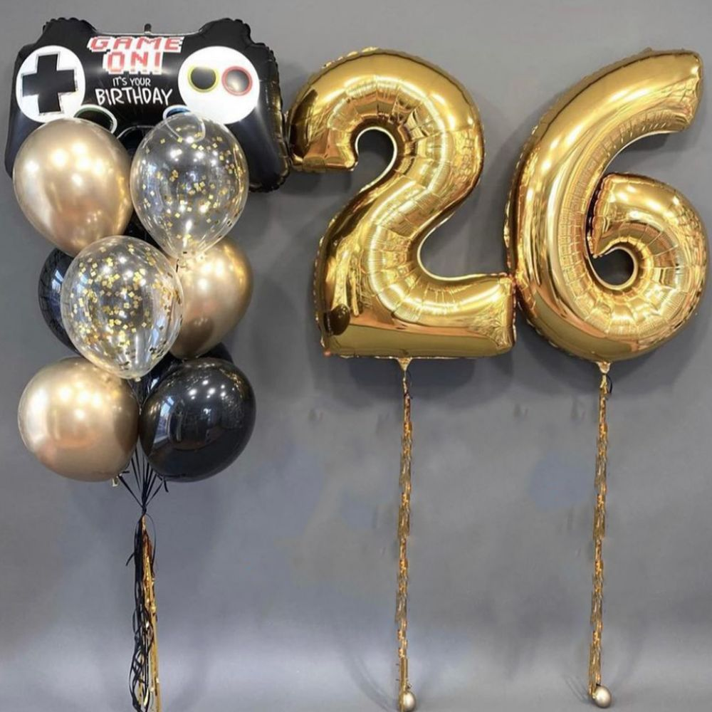 """Комплект воздушных шаров  """"26 лет"""""""