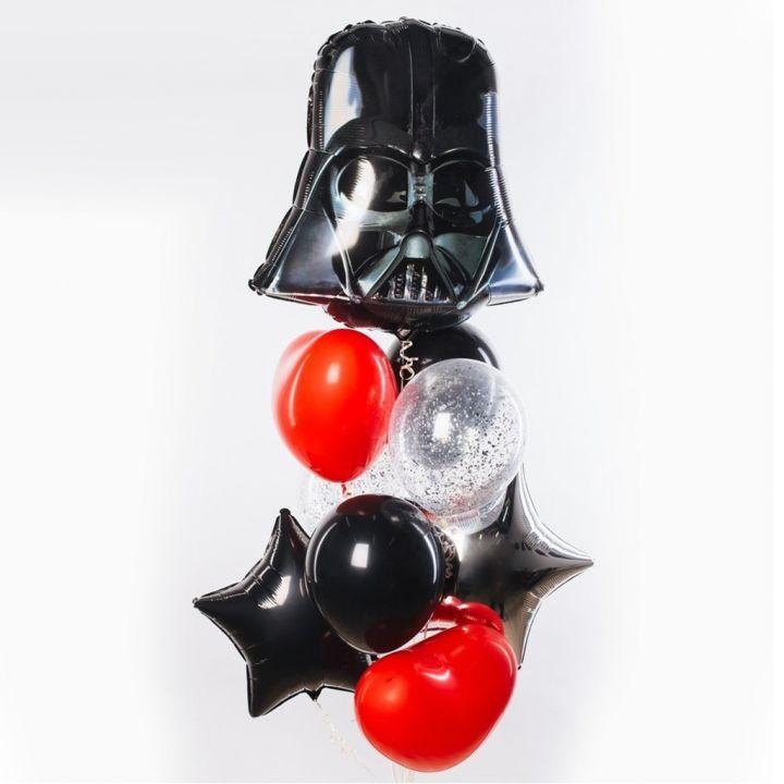 """Связка из 10 воздушных шаров """"Звездные Войны"""""""