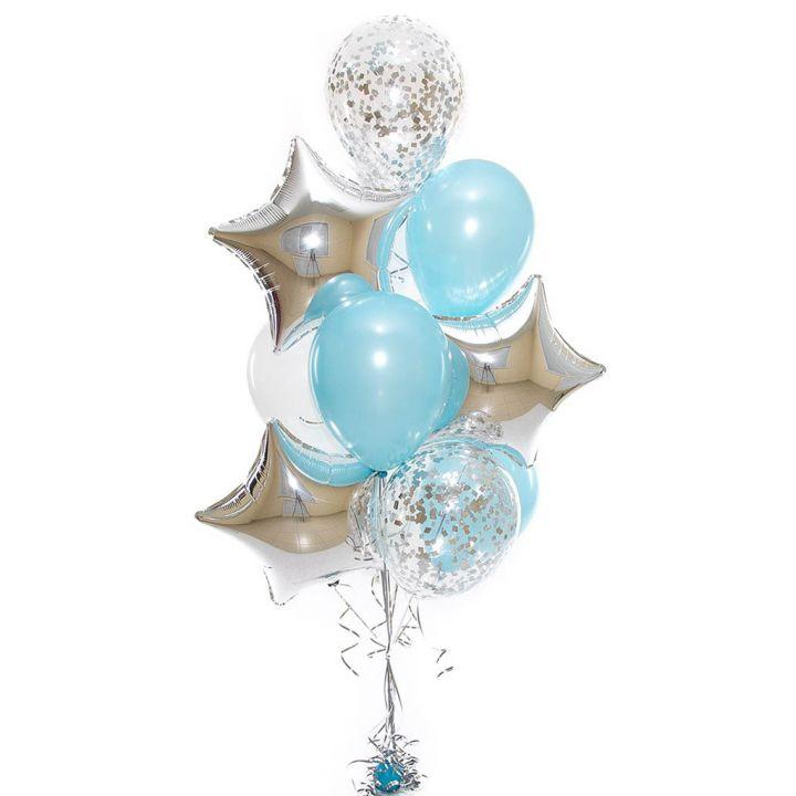 Связка из 11 воздушных шариков на любое торжество