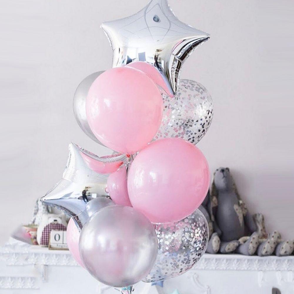 """Связка из 10 воздушных шариков """"Нежно-Розовый"""""""