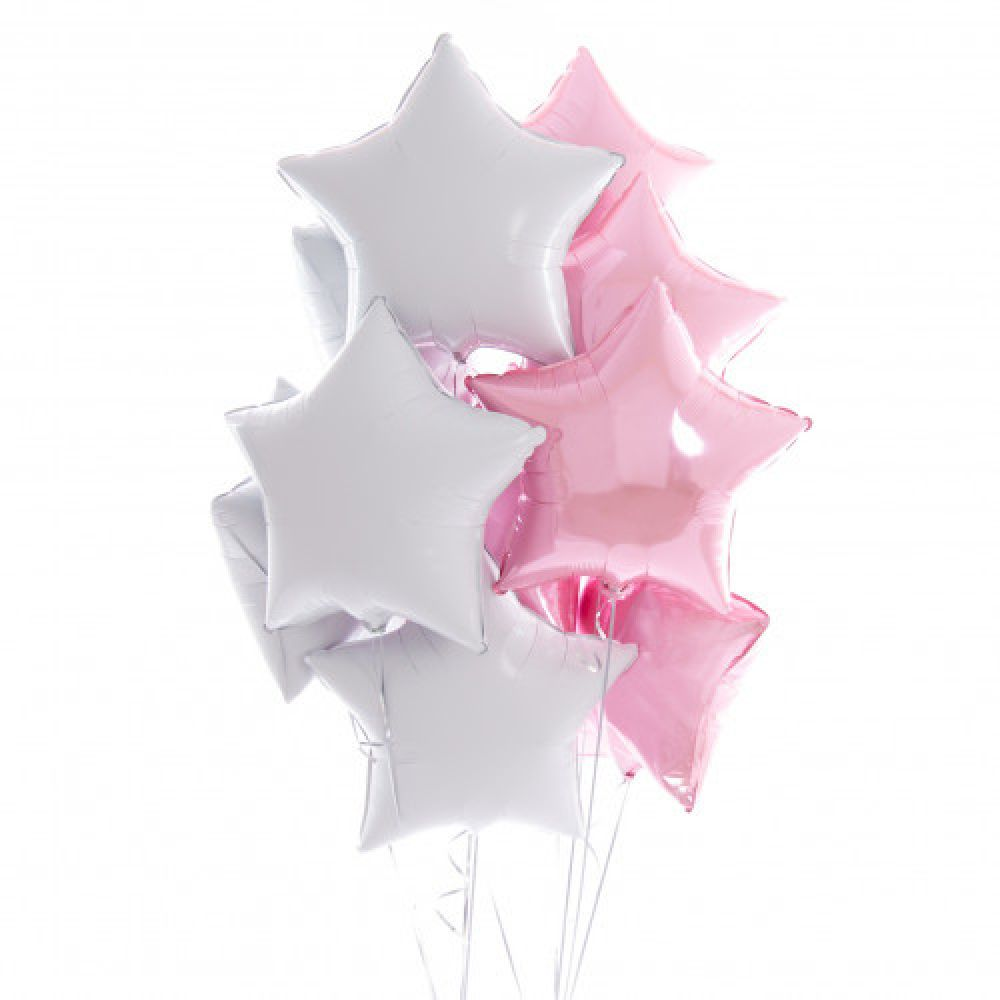 Композиция Бело-розовые звезды