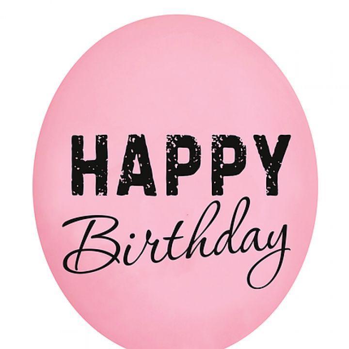 Happy Birthday розовый