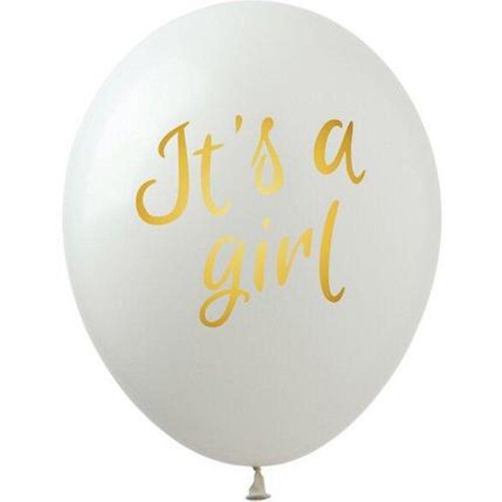 """Шар латексный с рисунком """"Its a girl"""""""