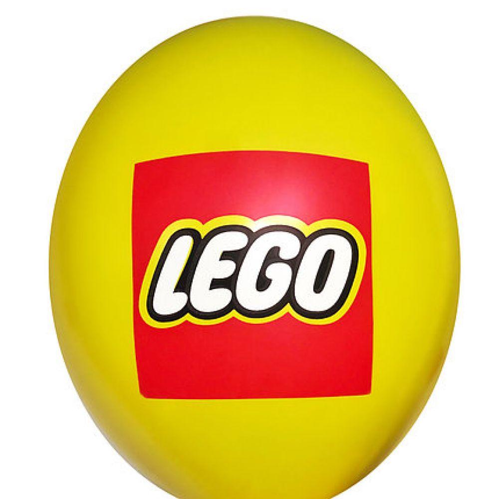 """Шар латексный с рисунком """"LEGO"""""""