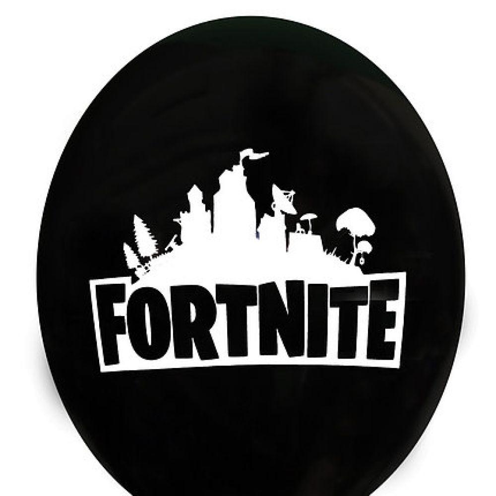 """Шар латексный с рисунком """"Fortnite"""" чёрный"""