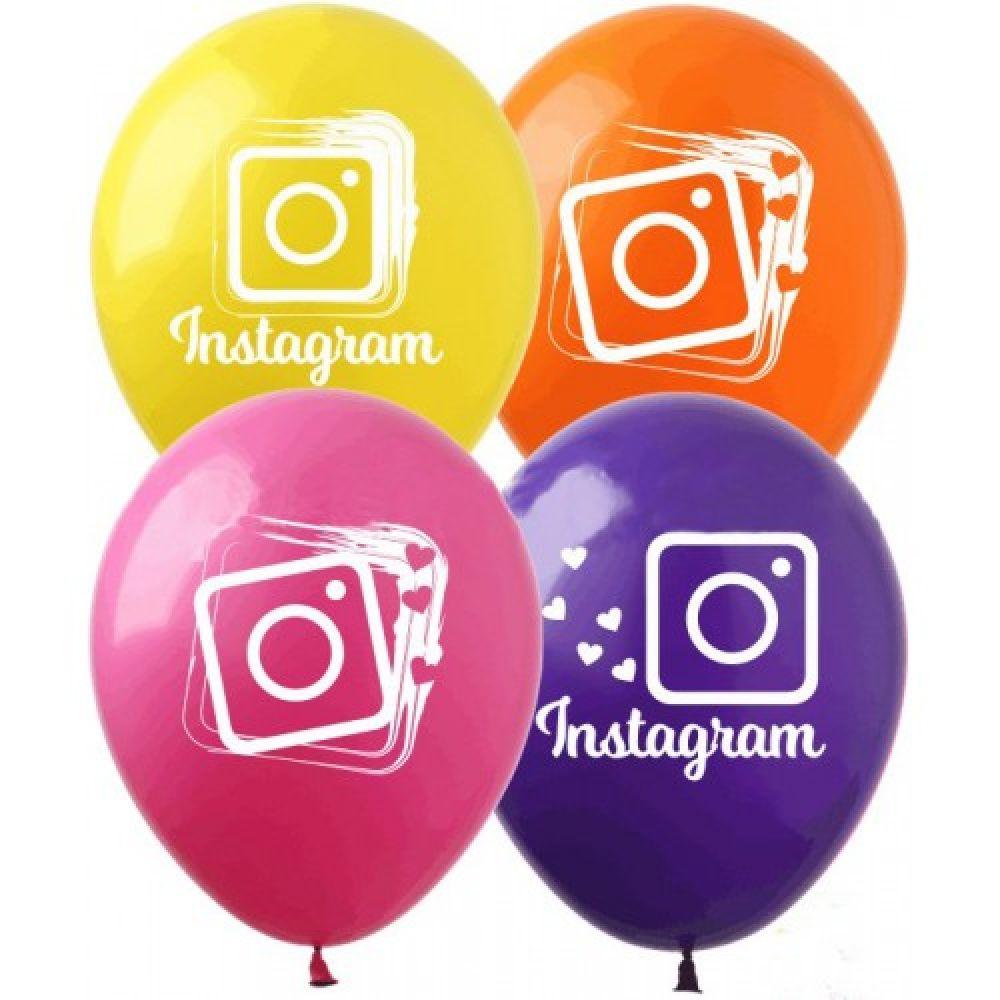 """Шар латексный с рисунком """"Instagram"""""""