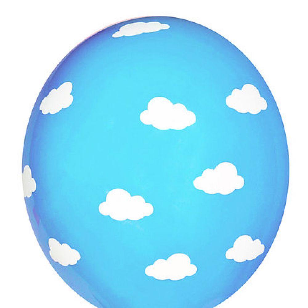 """Шар латексный с рисунком """"Облака на голубом"""""""
