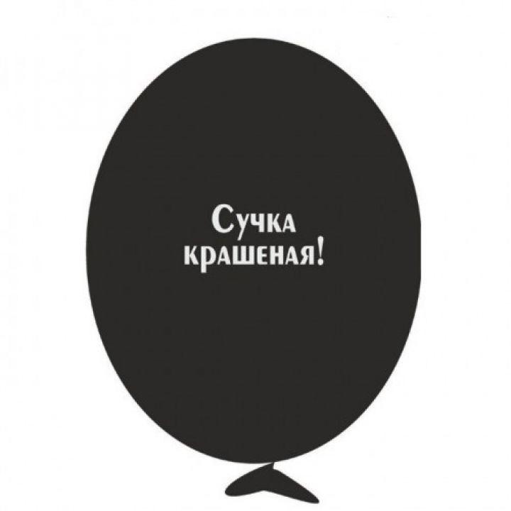 Шарик с надписью Сучка крашенная!